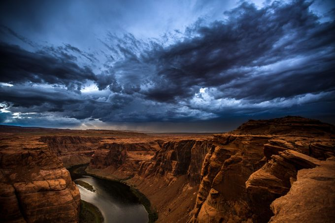 Horseshoe Bend Storm by lensofadventure - Rugged Landscapes Photo Contest