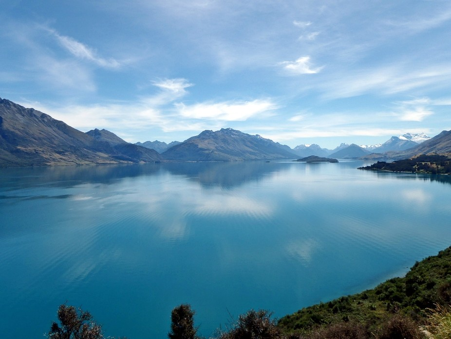 About an hours drive from Queenstown to Glenorchy...on the edge of Lake Wakatipu.. a drive with b...