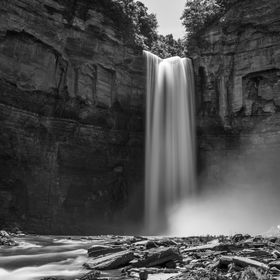 Taughannock Falls in Ithaca, NY.  Taken with a Hoya ND400 filter