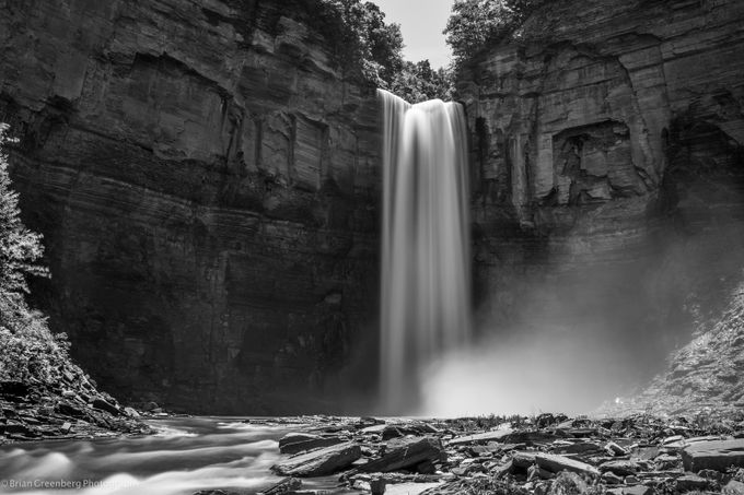 Mighty Taughannock by briangreenberg - Landscapes In Black And White Photo Contest