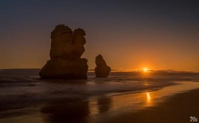 Sunset on Gibson's Steps Beach