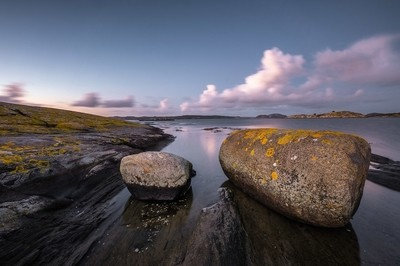 Rocks, Water and Sky