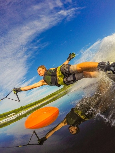 Reflection perfection water skiing