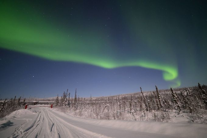 Dalton Highway Aurora by EduOak - Winter Roads Photo Contest