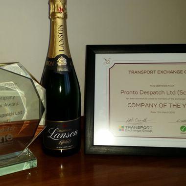 CX Company of the Year 2016, Pronto Despatch Ltd