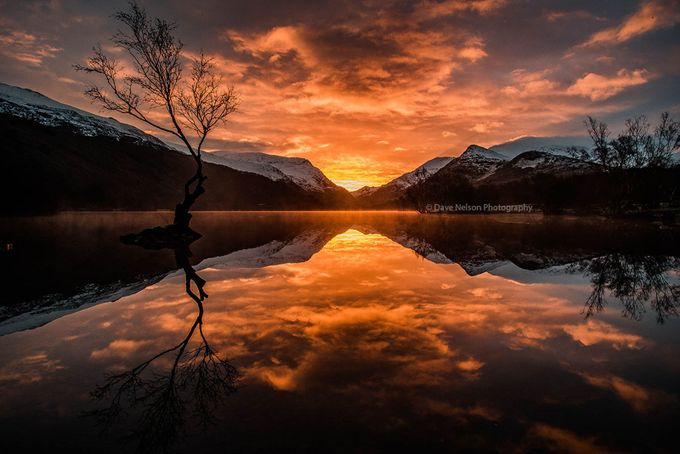 Winter Sunrise - Snowdonia, North Wales, UK by davenelson - Spectacular Lakes Photo Contest