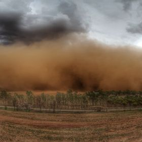This was one of the biggest dust storms to hit our region that I had ever seen. The dust was swept up for the Pinery Bushfire grounds in South Au...