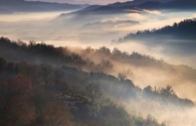 Vroege ochtend in Zagori , Epirus Griekenland door Theo-Herbots-Fotograaf