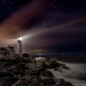 The Portland Head Light on a very, very cold winter night.