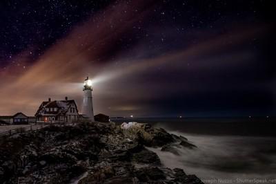 Head Light at Night