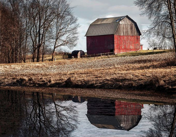 Old Red Barn by barbarahartmankirby - Farms And Barns Photo Contest