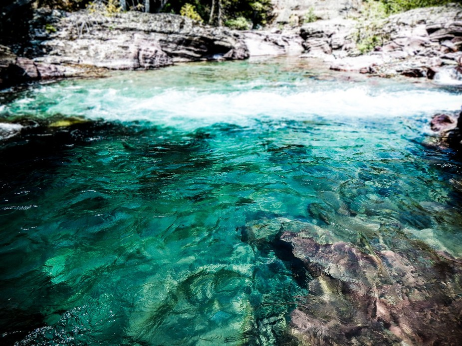 Turquoise River Water at Glacier, MT