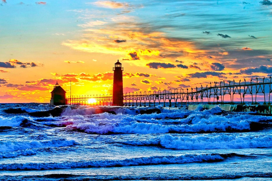 I spent 2 hours at Grand Haven waiting in 35 to 45 MPH winds and freezing temps. to try and get a...