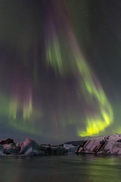 Aurora Borealis - Jokulsarlon Lagoon, Iceland
