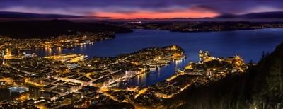 Bergen City Twilight
