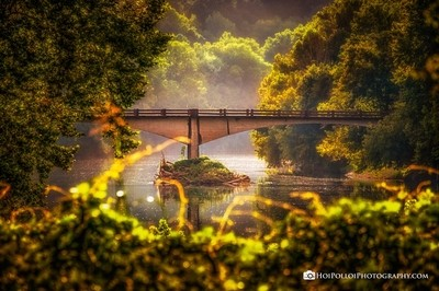 Conway Bridge Sunlight