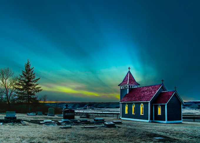 Kennel Road Church  by hartmanc10 - A World Of Blue Photo Contest