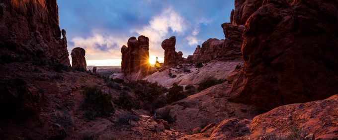 Sunset Over Moab by JohnWaldronImages - Layered Compositions Photo Contest