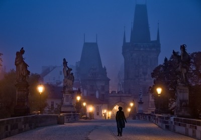 Dawn on the Charles Bridge