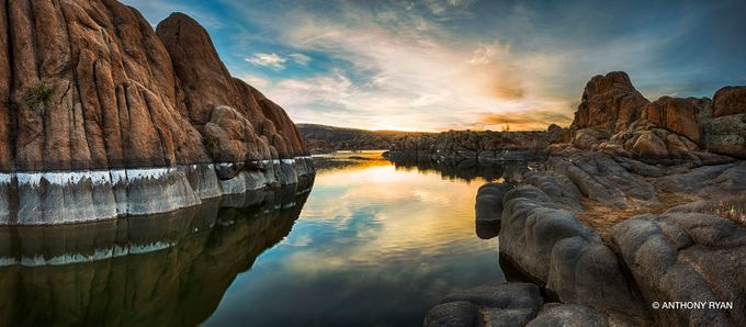 Watson_Lake_Sunrise_04 by anthonyryan - Boulders And Rocks Photo Contest