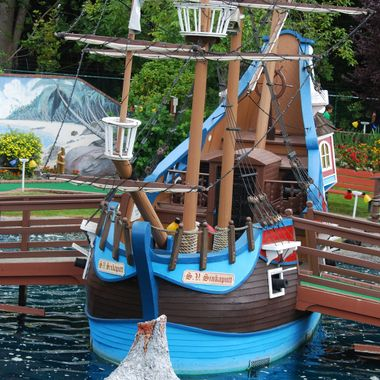 Ship Ahoy Maties - Ship at Parksville Castle Mini Golf July 2015