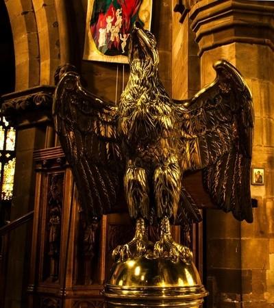 bras eagle - St Michaels church Lichfield