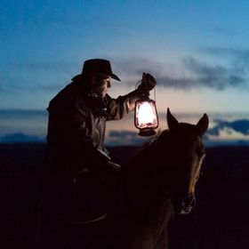 I was so fortunate to capture this image at a farm in rural Alberta one night. Just a cowboy and his horse.