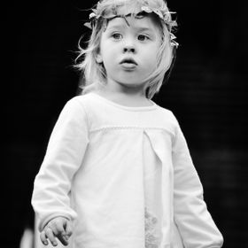 I captured this portrait of a sweet, young daughter of an American Navy Soldier in Sasebo, Japan. He had just returned from overseas, and they as...