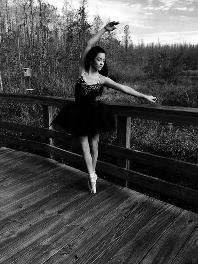 Outside on pointe