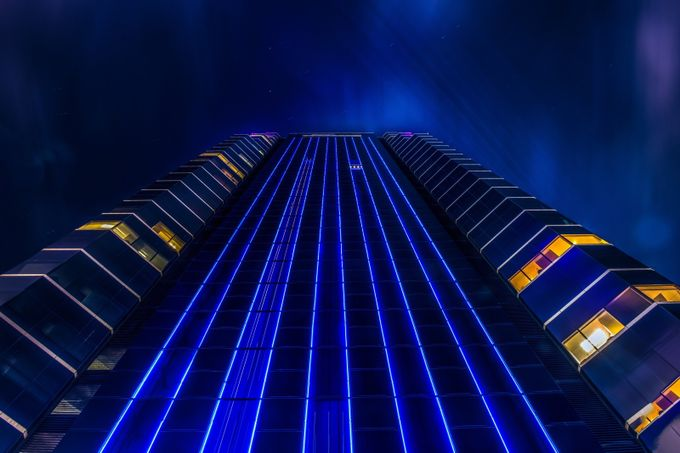 Building spaceship by PhilMcCabe - A World Of Blue Photo Contest