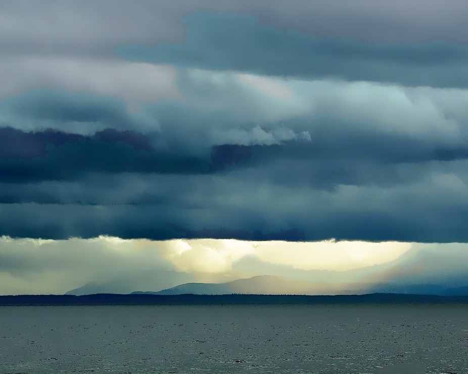 This photo was captured just as the South Coast of BC was inundated by a seasonal deluge of storm...