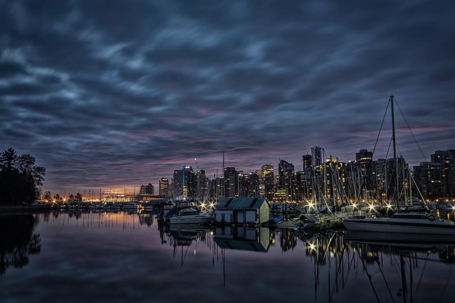Pre-sunrise, Vancouver BC, November 2014