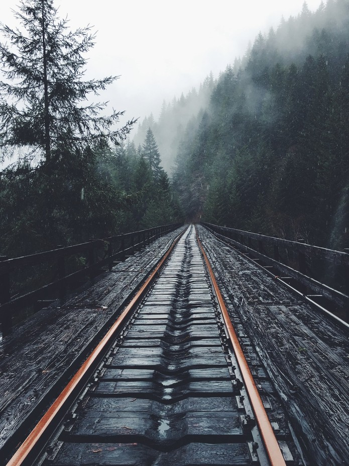 Railroads on a Rainy Day by katiefisher - Empty Railways Photo Contest