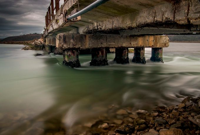 River Mirna  by Kraljikica - The View Under The Pier Photo Contest