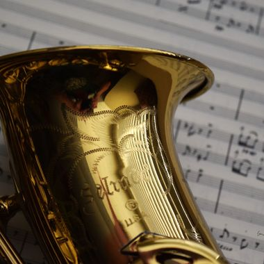 selmer saxophone with sheet music