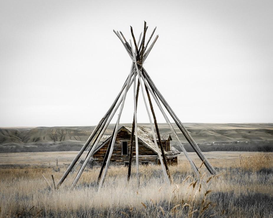 On the prairies of Alberta, Canada