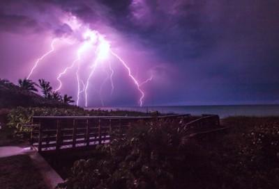 Hobe Sound Beach Lightning