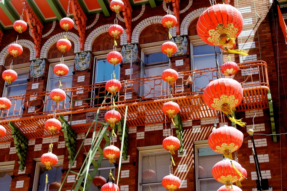 I admire the colorful culture of SF China Town. These lanterns adorn the streets.