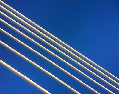 Diagonals on blue