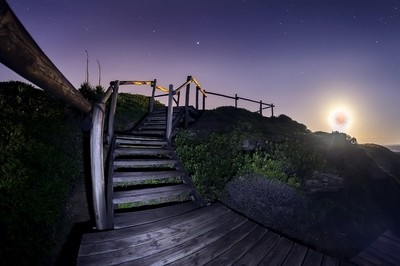 Stairway to the full moon