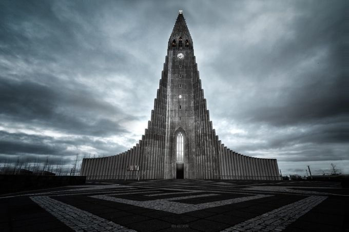 Hallgrimskirkja by lensvoodoo - 500 Stormy Clouds Photo Contest