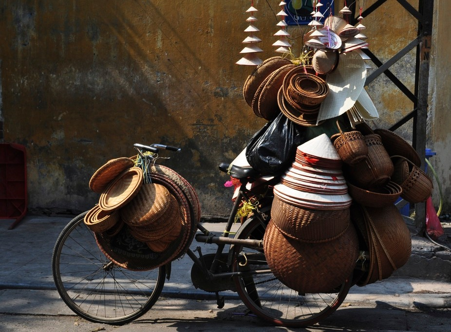 Wicker on wheels