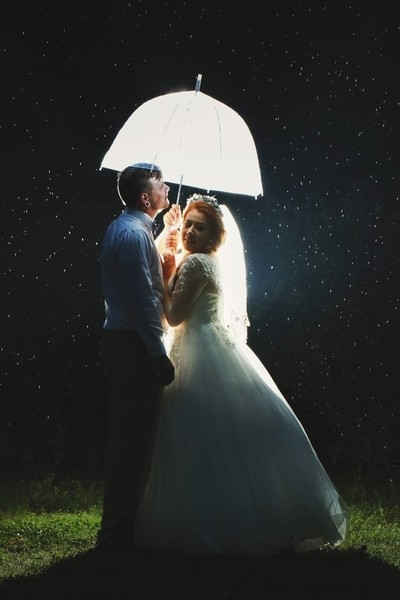 Rainy Wedding Day Fun