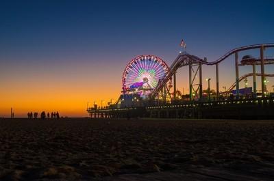 Sunset over Santa Monica