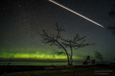 Satellite and Aurora