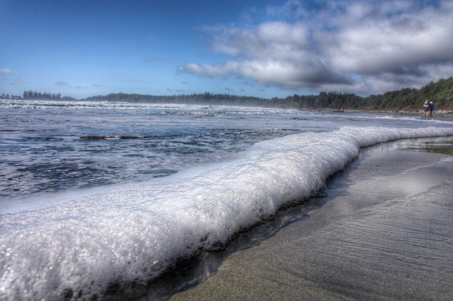 Waves Foam taken at long beach near Ucluelet ,BC in March 2016