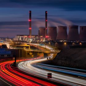 Ferrybridge Power Station, Ferrybridge, West Yorkshire, United Kingdom, March 14th 2016. Officially Closes on March 31st 2016 Composite of 2 blen...