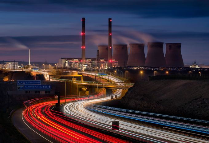 Ferrybridge_power_station_02 by gilesrrocholl - Composing with Curves Photo Contest