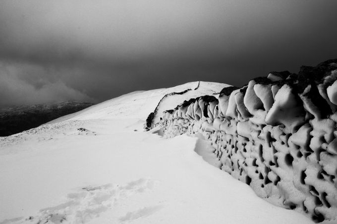 The Mountain Wall by surrey_george - Winter In Black And White Photo Contest
