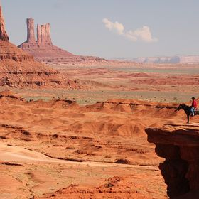 Classic pose in Monument Valley, Arizona.  A horseback rider looks over Monument Valley.  http://www.istockphoto.com/ca/photos/artiste9999  http:...